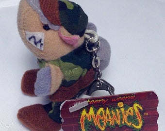 "Teeny Weenie Meanies Keychain Series 1, Armydillo ""DAN"", Vintage 1997 Keychain Zipperpull, Armadillo Teenie Weenie Meanies Collectable"