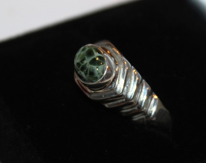 Chlorastrolite (Greenstone) Ring: from Isle Royale (the old collection) GR-30 Size 8