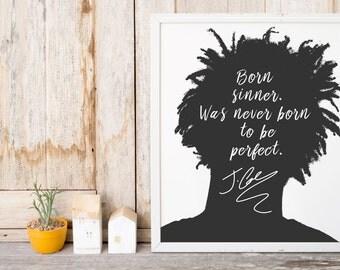 "J. Cole ""Born Sinner"" Art Print"