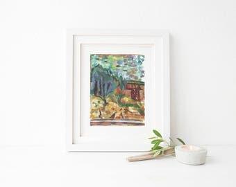 Pierre Bonnard - 'The Little Window' - Artist impression - digital print - A3,11x14,A4,8x10.