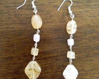 Dangle stone earrings