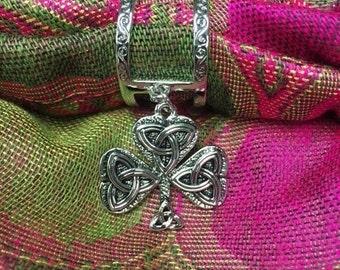 Scarf Charm- Celtic Shamrock
