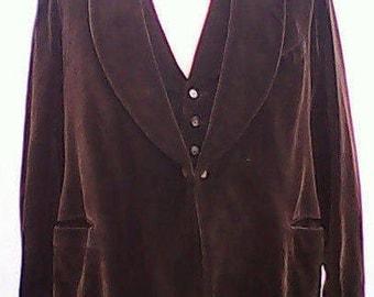 Velvet Jacket & Waistcoat 1930s.