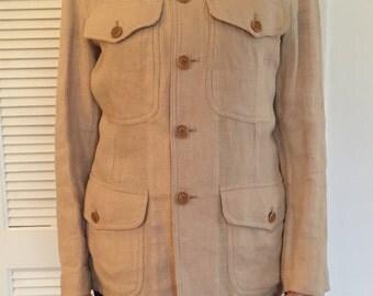 Ralph by Ralph Lauren Linen Military Jacket