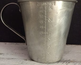 Vintage Aluminium Measuring Jug, food photography prop, food styling prop