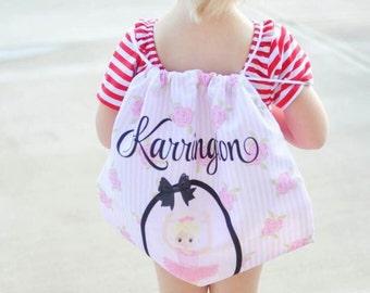 Dance Bag - Personalized Dance Bag - Personalized Ballet Bag - Ballet Bag - Jazz Bag -  Backpack Drawstring -Ballerina Bag