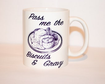 Breakfast coffee mug Biscuits and gravy