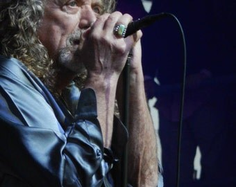 Original music photography fused on metal by the photographer - 'Robert Plant'