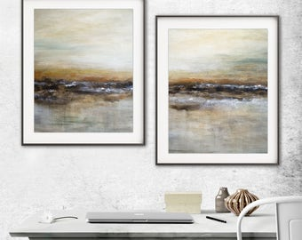 Digital prints set of 2 printable art wall decor instant download diptych art abstract digital print painting art line modern artwork decor