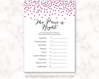 price is right bridal shower game template - printable 39 the price is right 39 bridal shower party