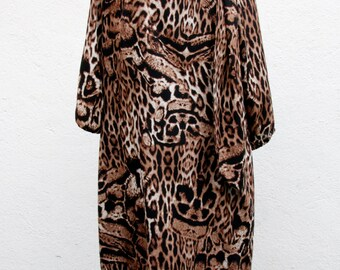Vintage dress / Leopard, 70s