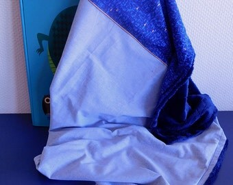 Extra cover, soft, blue, Royal Blue minkee 75x90cm