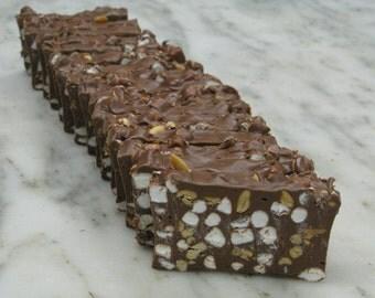 Rocky Road Fudge Handmade 5 lb. Loaf.