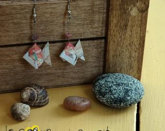 Origami (fish) - P015 earrings
