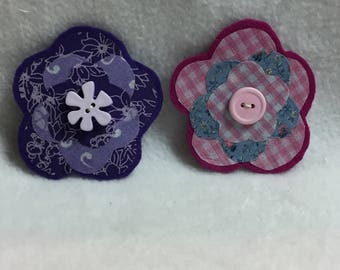 Flower Hair Clips - Set of 2 (#001.15)
