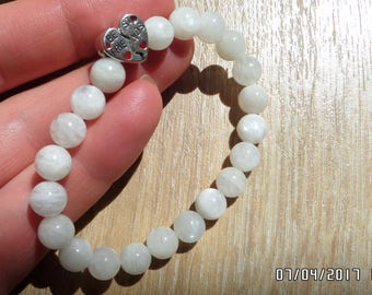 """""""BEST FRIENDS"""" of Lunar natural stone and Silver 925 bracelet 100% handmade jewelry."""