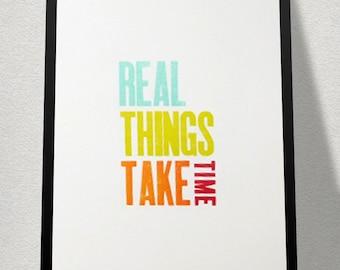 Decorative poster printing letterpress, poster, mobiles, handmade, wood type design types