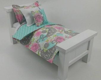 "18"" Doll Bedding Set, Songbird Doll Bedding, Made to Fit 18"" Dolls Such as The American Girl Dolls"