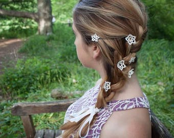 Medium Hand-Tatted Lace Hair Clip