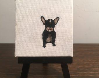 1/3 'Mateo.TheeFrenchie' (Original Painting) - Mini Canvas - Home Decor