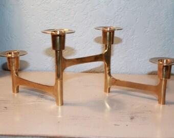 Articulating Brass Candle Holder, Vintage MCM Solid Brass Articulating/Folding/Adjustable Candlestick Holder, Brass Candlestick Holder