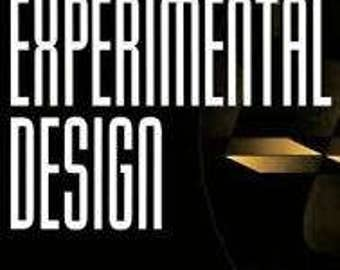 Practical Guide to Experimental Design Signed Copy Book