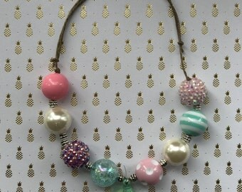 Girls Tassel Gumball Necklace Made to Match Matilda Jane- The Adventure Begins Collection