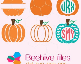 Pumpkin  monogram, chevron in svg, dxf, png, eps format. Instant download for Cricut Design Space and Silhouette Studio