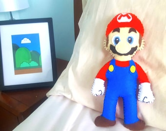 Mario Plush pattern, Mario Plush, toy sewing pattern, Hand Sewing, Instant Download PDF, DIY, stuffed toy, gamer, video game, easy