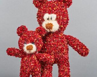 Bears, Father & Son, Handmade wool animal figure