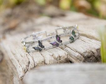Beautiful silver butterfly bracelet