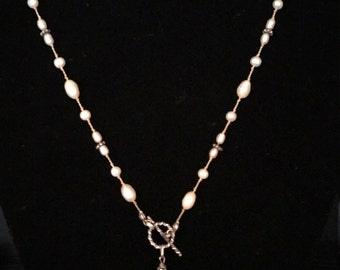 Sterling and Freshwater Pearl Y Necklace