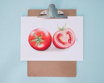 Tomato Art Print, Realistic Art