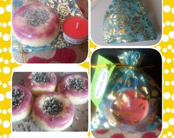 Soul Nourishing Candle and Bath Melt gift pouch