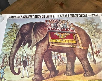 Ringling Brothers and Barnum and Bailey Circus Poster- Elephant on Parade