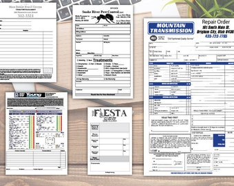 Custom Business Form Design: Personalized Order Forms, Invoice, Receipt, Work Order, 2-part, 3-part NCR, Printable, Fillable PDF & Printed