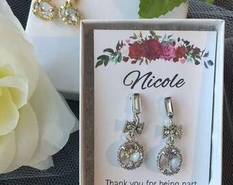 Dangle BowTie Earrings