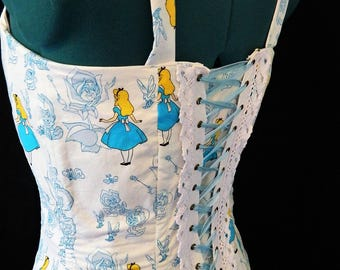 Alice in Wonderland Corset and Skirt