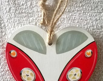 Camper Van, Campervan, VW, Heart, Love, Ornament, Decoration, Home, gift for her, Hanging Ornament, Hanging Decoration, gift, Mother's Day