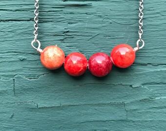 SALE Agate Stone Bar Necklace || Agate Necklace || Boho Necklace || Semi Precious Necklace