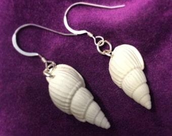 Mermaid Shell drop Earrings 925 Sterling Silver