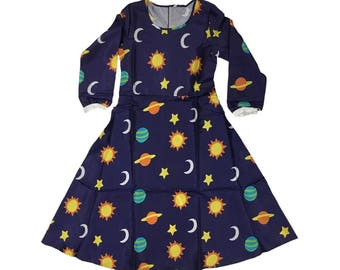 Ms. Frizzle Dress Magic School Bus Costume Teacher Planets Solar System Space Galaxy Miss Mrs 90s Cartoon Cosplay Women's Adult High Quality