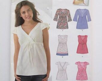 New Look #0561 Empire Waist Summer Shirt Sewing Pattern Misses 8 - 18