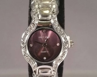 WATCH SILVER PURPEL
