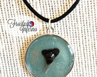 Sharks tooth resin necklace