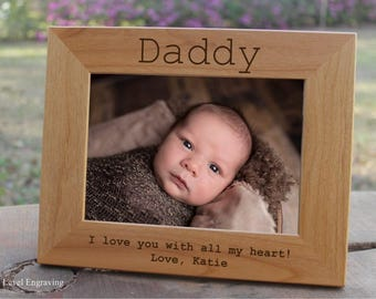 1st Fathers Day Gift from Son Kids Gift from Daughter, Daddy Gifts, Daddy and Son, Daddy and Daughter Personalized Picture Frame Photo Frame
