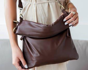 Brown Leather Satchel Bag, Leather Handbag, Brown Leather Shoulder Bag, Leather Satchel, Satchel Handbag