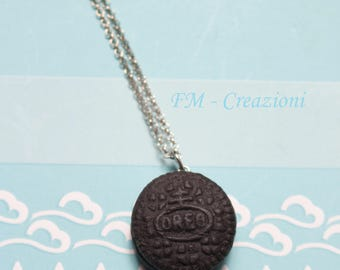 Oreo necklace in fimo