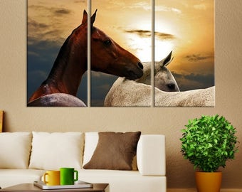 Wild Horses Wall Art Canvas Print, Horse Canvas Print, Horse Art, Horse Wall Art, Home Decor, Horse Decor, Horse Canvas, Horse Art Print,