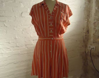 NEW PRICE * set of 40's Beach * playsuit and matching skirt * authentic vintage 40's * TS